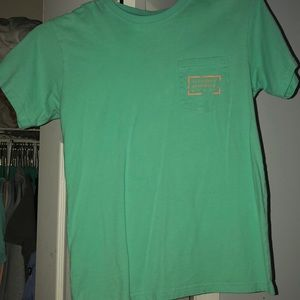 Tops - Light green and orange/coral t-shirt